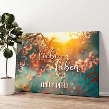 Blühende Liebe Wandbild personalisiert