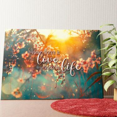 Personalisiertes Wandbild Blühende Liebe