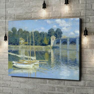 Leinwandbild personalisiert Brücke von Argenteuil