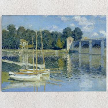 Personalisiertes Leinwandbild Brücke von Argenteuil