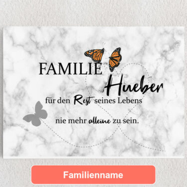 Personalisiertes Leinwandbild Butterfly