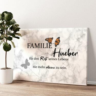 Butterfly Wandbild personalisiert