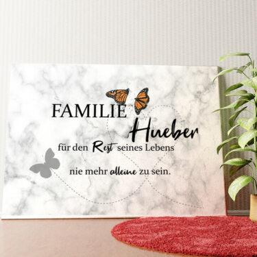 Personalisiertes Wandbild Butterfly