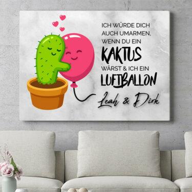 Personalisierbares Geschenk Cactus Balloons