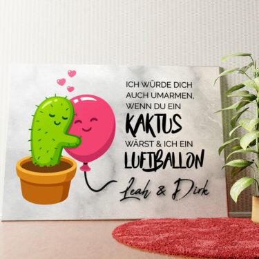 Personalisiertes Wandbild Cactus Balloons