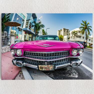Personalisiertes Leinwandbild Cadillac Oldtimer