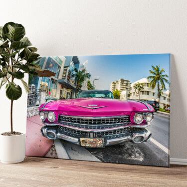 Cadillac Oldtimer Wandbild personalisiert