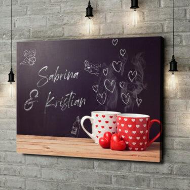 Leinwandbild personalisiert Chalkboard