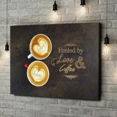 Leinwandbild personalisiert Coffee
