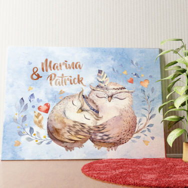 Personalisiertes Wandbild Cuddle Owls