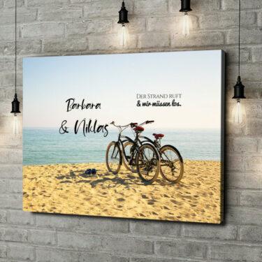 Leinwandbild personalisiert Cycling Moments