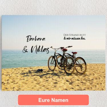 Personalisiertes Leinwandbild Cycling Moments