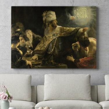 Personalisierbares Geschenk Das Gastmahl des Belsazar