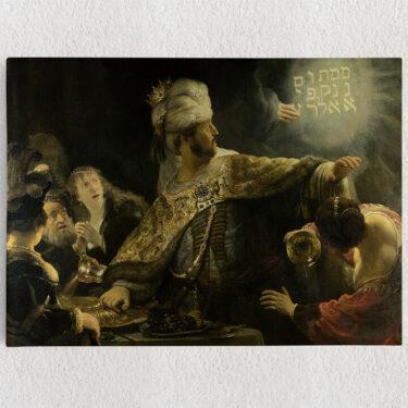 Personalisiertes Leinwandbild Das Gastmahl des Belsazar