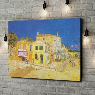 Leinwandbild personalisiert Das gelbe Haus