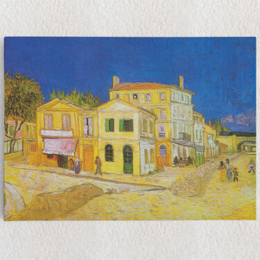 Personalisiertes Leinwandbild Das gelbe Haus
