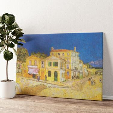 Das gelbe Haus Wandbild personalisiert