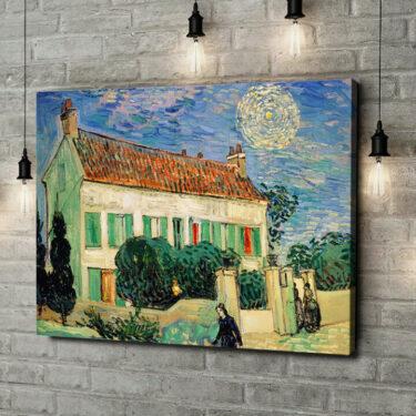 Leinwandbild personalisiert Das weiße Haus bei Nacht