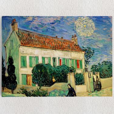 Personalisiertes Leinwandbild Das weiße Haus bei Nacht