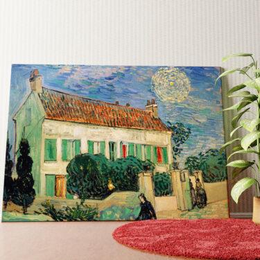Personalisiertes Wandbild Das weiße Haus bei Nacht