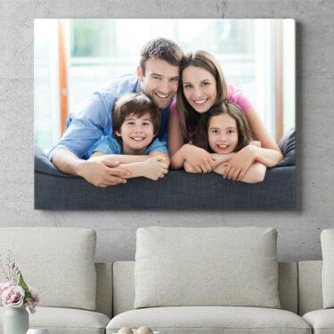 Personalisierbares Geschenk Dein Foto auf Leinwand