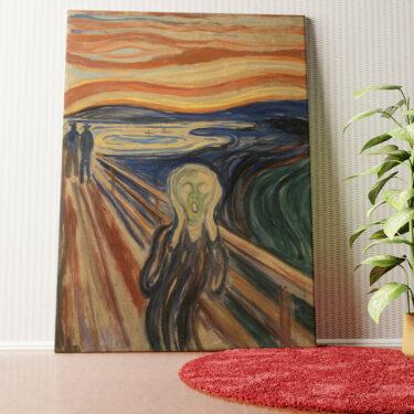 Personalisiertes Wandbild Der Schrei
