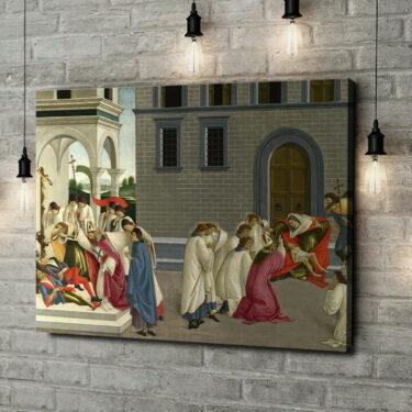 Leinwandbild personalisiert Die drei Wunder des heiligen Zenobius