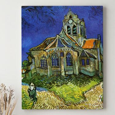 Leinwandbild personalisiert Die Kirche von Auvers