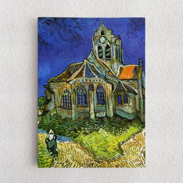 Personalisiertes Leinwandbild Die Kirche von Auvers