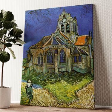 Die Kirche von Auvers Wandbild personalisiert