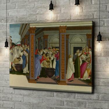 Leinwandbild personalisiert Die Taufe des heiligen Zenobius