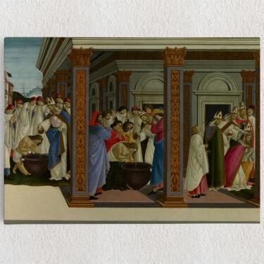 Personalisiertes Leinwandbild Die Taufe des heiligen Zenobius