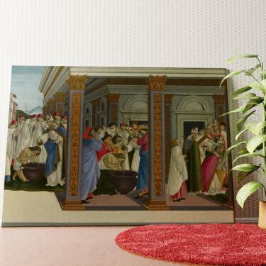 Personalisiertes Wandbild Die Taufe des heiligen Zenobius