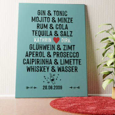 Personalisiertes Wandbild Du & Ich - Drinks