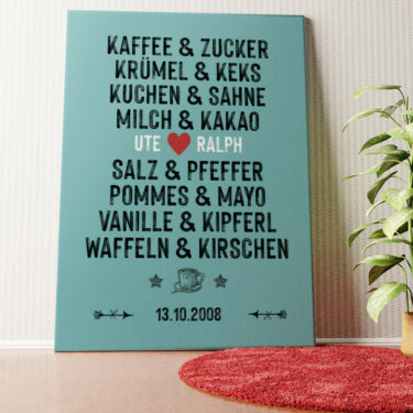 Personalisiertes Wandbild Du & Ich - Genießer