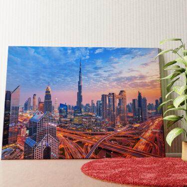 Personalisiertes Wandbild Dubai Skyline