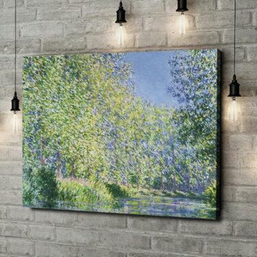 Leinwandbild personalisiert Eine Biegung der Epte bei Giverny