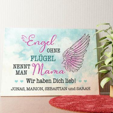 Personalisiertes Wandbild Engel der Familie