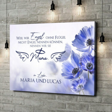 Leinwandbild personalisiert Engel ohne Flügel