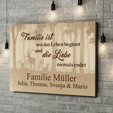 Leinwandbild personalisiert Familie und Leben