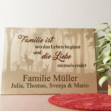 Personalisiertes Wandbild Familie und Leben