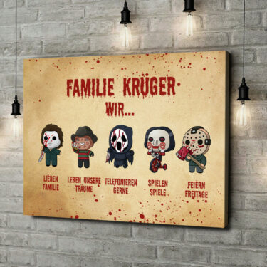 Leinwandbild personalisiert Familiensinn