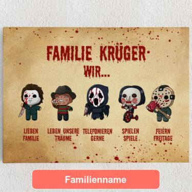 Personalisiertes Leinwandbild Familiensinn