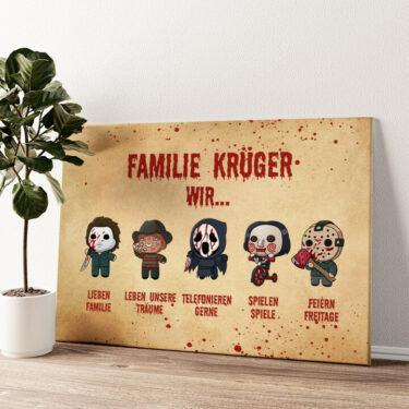 Familiensinn Wandbild personalisiert