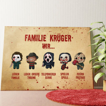 Personalisiertes Wandbild Familiensinn