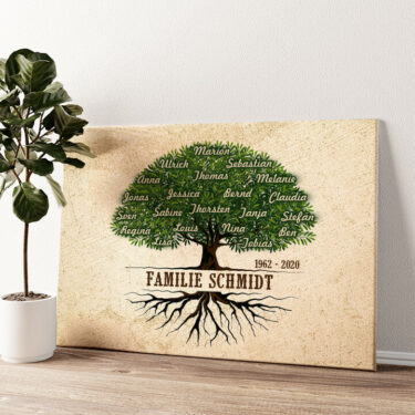 Familienwurzeln Wandbild personalisiert