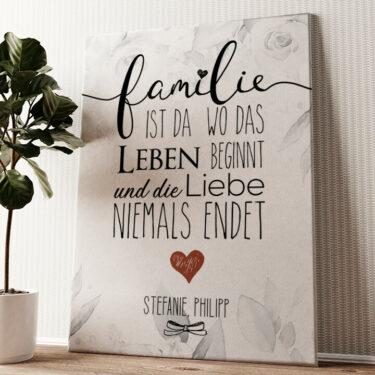Family Wandbild personalisiert