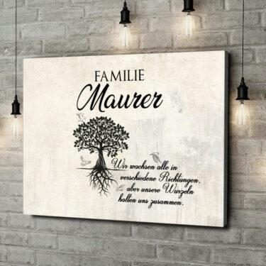 Leinwandbild personalisiert Family Tree