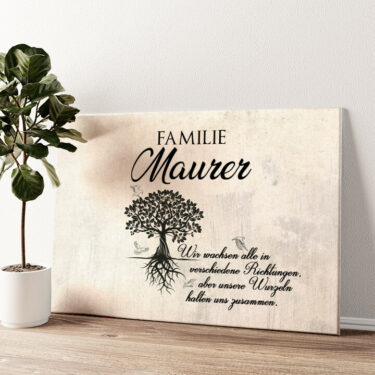 Family Tree Wandbild personalisiert