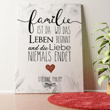 Personalisiertes Wandbild Family